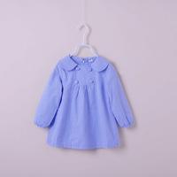 2T-7Y P brand children girls blouses fashion strip Lapel blouse for girls cute baby girl kids full/long sleeve blouse