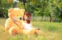 Stuffed Giant 80CM Big Beige Plush Teddy Bear Huge Soft 100% Cotton Doll Toys Brown Teddy Bear Plush Toy Gift