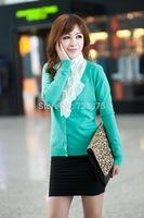 2014 spring/autumn New South Korea women Joker knitwear fashion sweater cardigan Lady pullover girl winter cardigan sweater coat