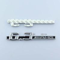 1 PC 6.3 AMG Pattern ABS Plating Fender car emblem badges sticker for Benz