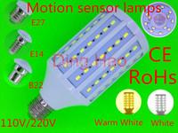 3pcs 30W E27 E14 B22 Sensor Energy Saving Led Corn Light Bulb Motion 5730SMD Human Body Motion Sensor led corn Lamp New Arrival