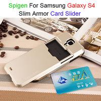 50pcs/lot 13 Colors SGP Tough Slim Armor CS Credit Card Slider Cases For Samsung Galaxy S4 i9500 Slide Sliding Cover