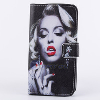 PU Leather Bicycle & Flower Camera Style Wallet Stand Flip Case Cover For Samsung Galaxy S5 SV i9600 Monroe Free Shipping