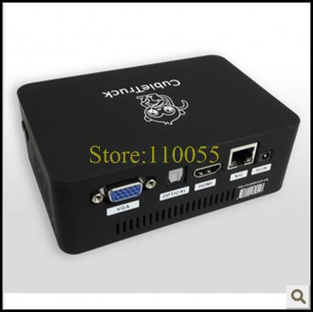 5pcs/lot Cubietruck Case Cubieboard 3 Black Color Black Box(China (Mainland))