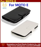 Hot Selling Wallet Leather Case Cover For Motorola Moto E,  Mobile Phone Case For MOTO E (10pcs/lot)Free Shipping