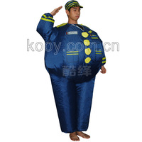 Free shipping inflatable captain costume for adult man party costume carnival costumes