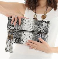 Free shipping new arrival fashion crocodile day clutch bag classical tassel women's handbag chain shoulder messenger bags