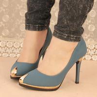 2014 autumn pointed toe stiletto platform single shoes female shallow mouth platform women's princess shoes