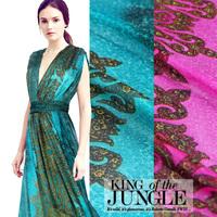 Totem silkworm silk chiffon silk color printing thin summer clothing dress fabric