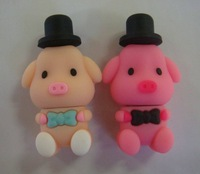 lovely pig flash drive usb , wholesale price , pink stick memory , usb flash,pendrive cartoon,fossil watch
