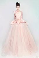 Rami Kadi 2015 Hot Sale  Fashion One Shoulder Ruffle Ball gown Floor Length Evening Dresses