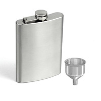 Free shipping New 4 5 6 7 8 10 18 oz Stainless Steel Hip Liquor Alcohol Flask Cap + Funnel Jecksion