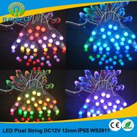 LED Board Light 50pcs/lot 12mm dc12v module IP65 waterproof  full color pixel string ws2811 rgb led pixel