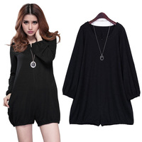 2014 Summer Jumpsuit Female Plus Size Basic Loose One-Piece Fashion Women's XXXXL