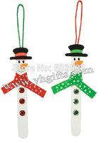 26PCS/LOT.Craft stick snowman ornament craft kit,DIY Christmas toys,Christmas crafts,Early educational toy.X'mas tree hanger.