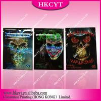 Joker 10g series aluminum foil incense bag for sale/ shiny design spice potpourri ziplock bag