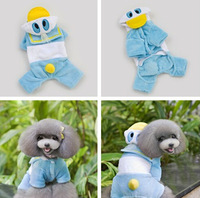 New Design Soft Comfortable Dog Costume Cute Duck Animal Style Pet Garment Fashion Winter Clothes For Pet Dog Supply Size(S-XXL)