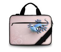 Fasion Gecko Design 16''~17.6'' Canvas Shoulder Laptop Bag High Desity Portable Bag for Macbook&Tablet Netbook Bag Print(China (Mainland))
