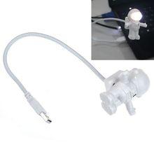 Fashion Creative Astronaut USB LED Light Lamp Laptop Desktop Computer Accessory Anne(China (Mainland))