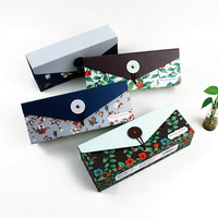 Blue pen and paper box small fresh fruit Splendour versatile creative paper stationery pencil case stationery bags wholesale Lea
