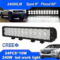 Super Power! 240W 20.4inch CREE LED Work Light Bar Flood Spot Beam Truck SUV ATV 4X4 Boat Mini Offroad Driving Lamp Worklight