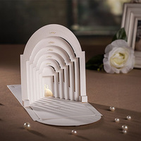 Pop Up Wedding Invitations, 3D Wedding Inviations, Bride & Groom In Palace Wedding Cards