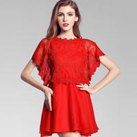 ON Sale Promotion zipper Gay 2014 evening dress short slim party dresses butterfly t-shirt bridal wear cheongsam one-piece dress