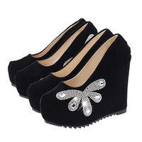 2014 Autumn Shoes Woman Wedge High Heels Women Shoes Platform Girls Shoes Comfortable Ladies Shoes