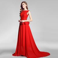 ON Sale Promotion Retro Gay 2014 evening dress long slim design red wedding dress bridal wear cheongsam one-piece dress  HOT