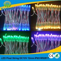 Advertisment led light 100pcs/lot 12mm ws2811 string rgb module IP65 dc12v waterproof  module