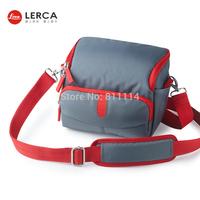 Freeshipping-Fashion LERCA Gray Digital Camera Shoulder Bag Case For Nikon P600,D7000,D90,D610,D300S,AW120S,AW110S,S9600,S8000