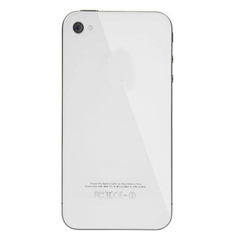 New White For iPhone 4S A1387 Battery Cover Back Door Replacement Rear Glass GSM(China (Mainland))