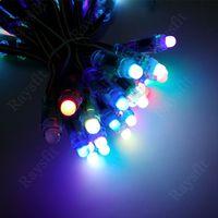 Colorful digital light 50pcs/lot 12mm ws2801 led pixel IP65 waterproof string dc5v colorful module