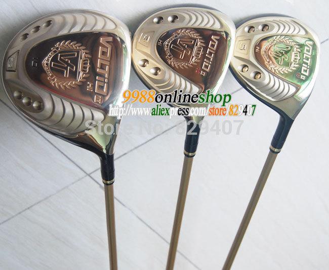 New golf clubs KATANA VOLTIO HI II golf drivers+2Fairway Wood Golf Woods set graphite shaft Plus wood HeadCover Free Shipping(China (Mainland))