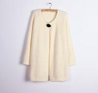 2014 plus  thickening Autumn outerwear Women knitting plus size long design cardigan sweater