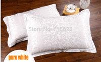 6 color choice silk single  side  Jacquard  Silk Pillowcase size 74cm*48cm+3cm good quality  pillow cover