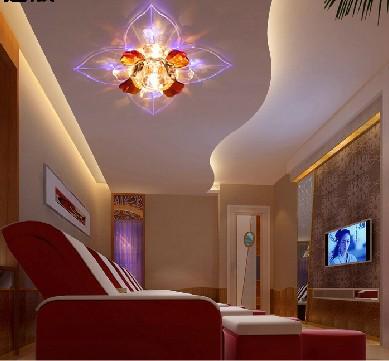 Mew modern 5W LED crystal ceiling Light lamp aisle corridor lights foyer lights minimalist porch lighting luminaria teto(China (Mainland))