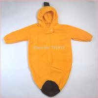 banana design newborn baby sleeping bag fleece with long sleeve for autumn winter infant sleepwear night bag bunting sack
