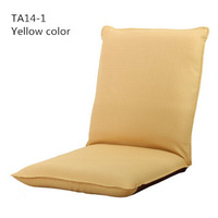 TA14-1 Japanese living room furniture Yellow color 5 position folding reclining sofa chair
