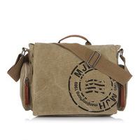 Wholesale new 2014  cotton canvas bag men and women casual fashion shoulder bag Korean style Messenger bag