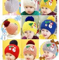 45-54cm baby Snowman standard woolen hat Children hats wholesale baby hats free shipping