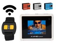 F09623 5MP Full HD 1080P Action Wifi RF Watch Control Diving 50M Waterproof Cam Sport Camera AT200 as SJ4000+ + FreeShip