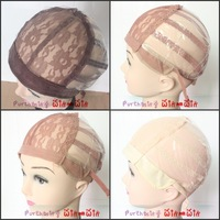 3colors avialble Machine Made Wig Cap Weft back Wig Cap with adjustable Straps on sale
