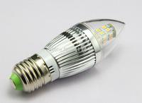 LED candle light bulb lamp High brightness lights E27 5W 2835SMD Cold white/warm white AC220V 230V 240V 110V 120V 130V 4pcs/lot