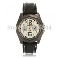 Free Shipping 5pcs Men Casual Quartz Wrist Watch Wristwatch Black Silicone Band Strap