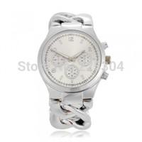 Free Shipping 5pcs Silver Alloy Band Quartz Movement Analog Bracelet Link Watch Wristwatch Woman
