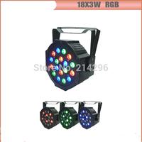 18*3W RGB  Flat LED PAR Light for stage backgroud light