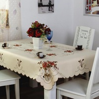 European pastoral simplicity cloth embroidered flag tablecloth table cloth