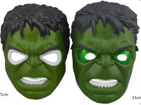 Free shipping Luminous Hulk Mask The Avengers Terror Halloween Party Props Children's Plastic Toys