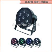 7*10W RGBW 4in1  Flat LED PAR Light for stage backgroud light